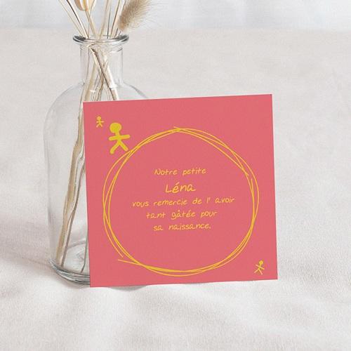 Carte Remerciement Naissance UNICEF Bonhommies Roses