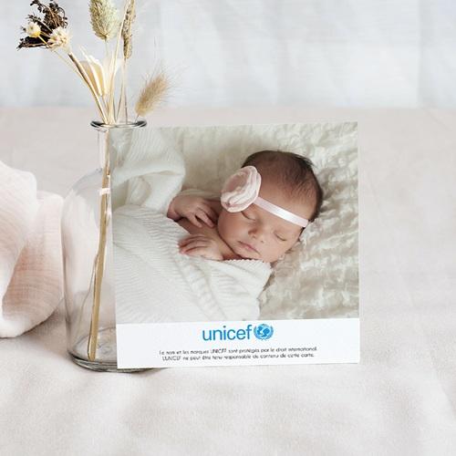 Carte Remerciement Naissance UNICEF Fleurs de Bonheur pas cher