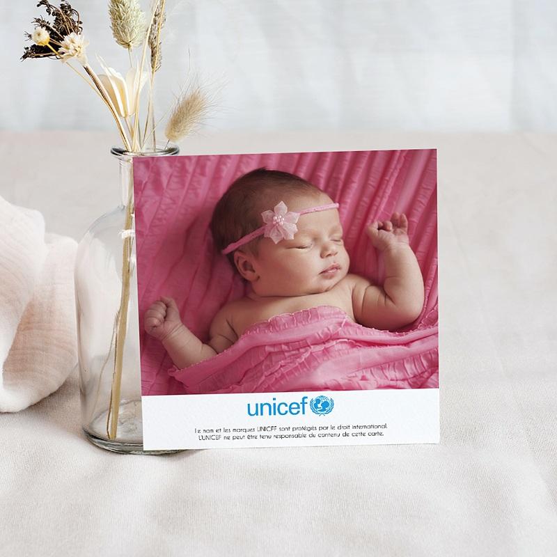 Remerciement Naissance UNICEF Cigogne en livraison pas cher