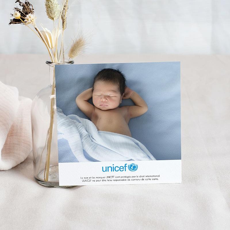 Remerciement Naissance UNICEF L'été en fête pas cher