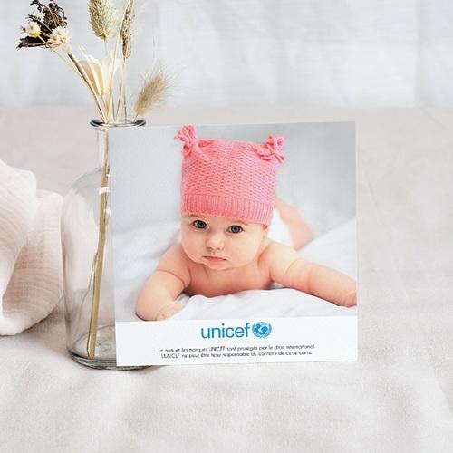 Carte Remerciement Naissance UNICEF L'été poudré pas cher