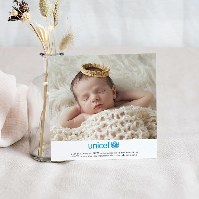 Carte Remerciement Naissance UNICEF Jardin ensoleillé pas cher