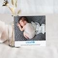 Carte Remerciement Naissance UNICEF Chevronnée pas cher