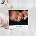 Carte Remerciement Naissance UNICEF Dentelle délicate pas cher