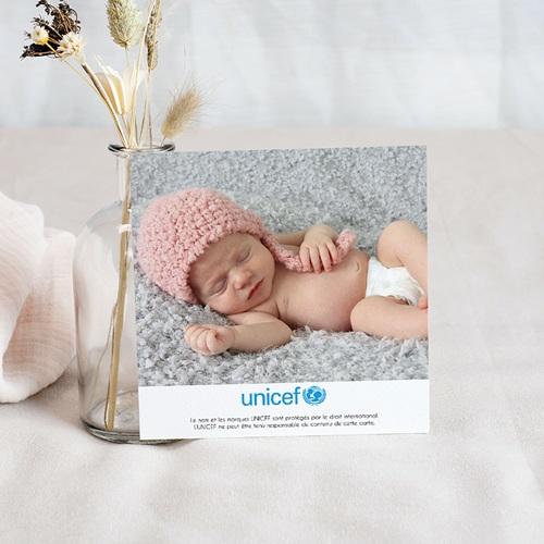 Remerciement Naissance UNICEF Esprit Sage et Rose pas cher