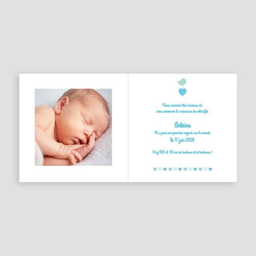 Faire-Part Naissance Garçon UNICEF - Coeur Bleu 46313 preview