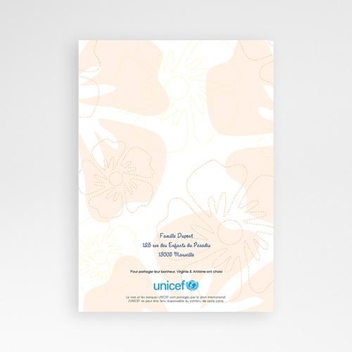 Faire-Part Naissance Jumeaux UNICEF - Tropical Beige 46334 thumb
