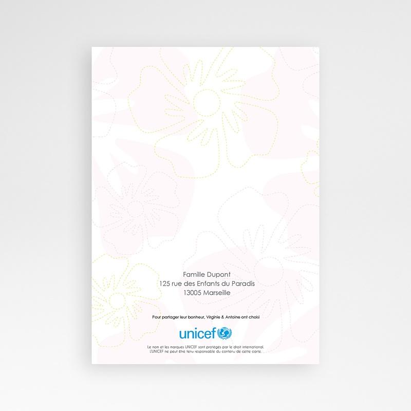 Faire-Part Naissance Jumeaux UNICEF Tropical Jumelles pas cher