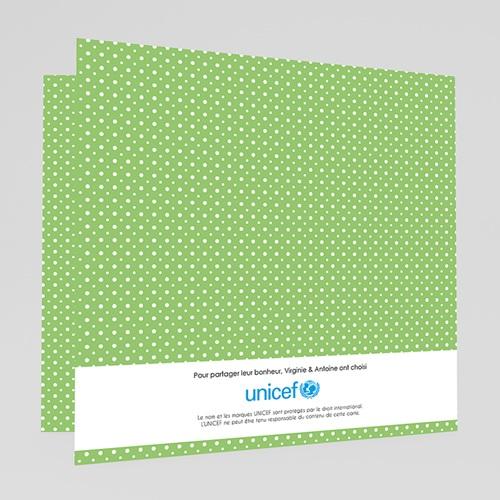 Faire-Part Naissance Jumeaux UNICEF - Médaillons Jumeaux Verts 46347 preview