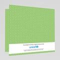 Faire-Part Naissance Jumeaux UNICEF Médaillons Jumeaux Verts gratuit