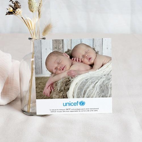 Carte Remerciement Naissance UNICEF Cigognes, livraison groupée pas cher