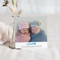 Carte Remerciement Naissance UNICEF Passeport Jumeaux pas cher