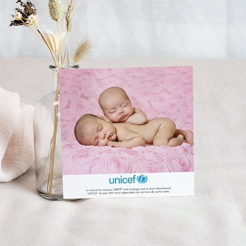 Remerciement Naissance UNICEF - Passeport Jumelles 46364 preview