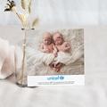 Carte Remerciement Naissance UNICEF Tropical Jumelles pas cher