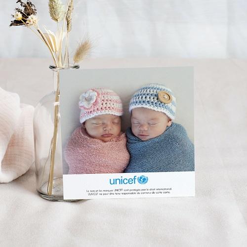 Remerciement Naissance UNICEF Tropical Jumeaux pas cher