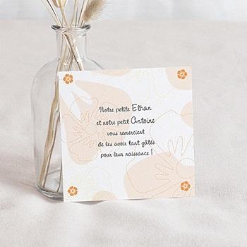 Acheter remerciement naissance unicef tropical beige