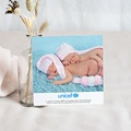 Remerciement Naissance UNICEF - Médaillon Jumeaux Roses 46382 thumb