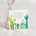 Remerciement Naissance UNICEF - Mains levées 46384 thumb