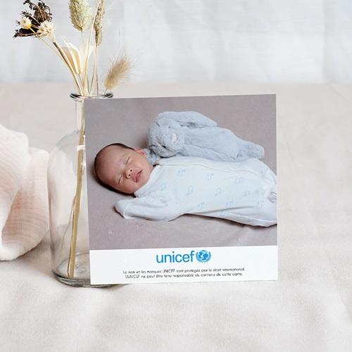 Remerciement Naissance UNICEF - Mains levées 46385 thumb