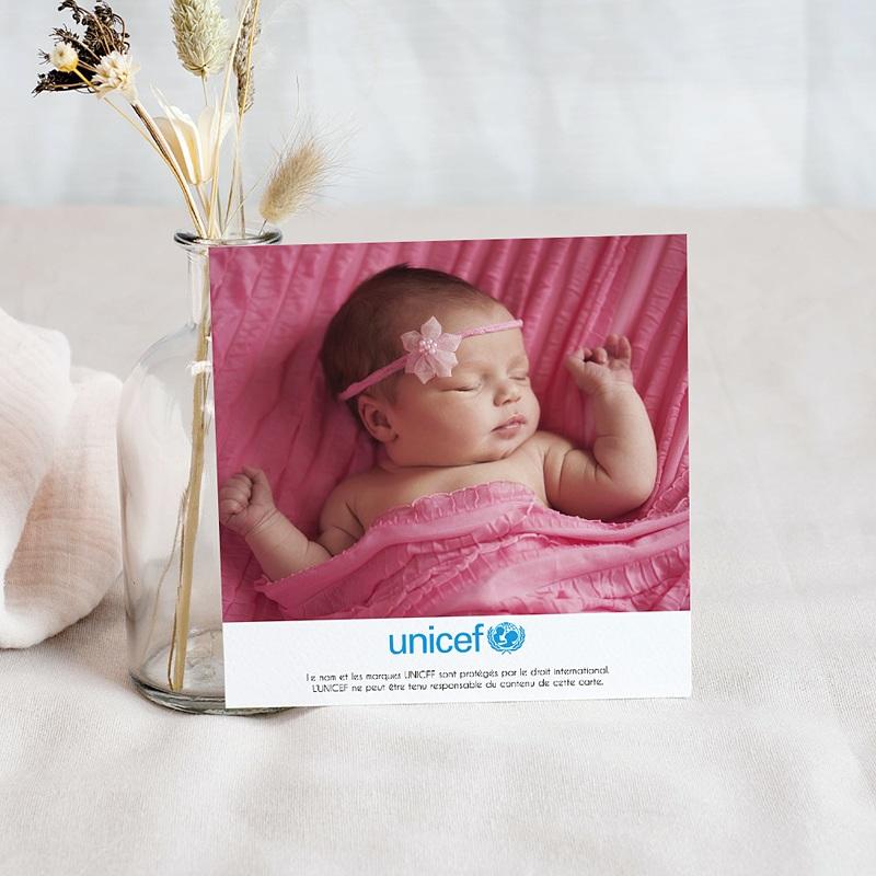 Carte Remerciement Naissance UNICEF Jardin Secret pas cher