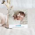 Carte Remerciement Naissance UNICEF Comme une Fleur pas cher