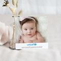 Carte Remerciement Naissance UNICEF Pois de senteur pas cher