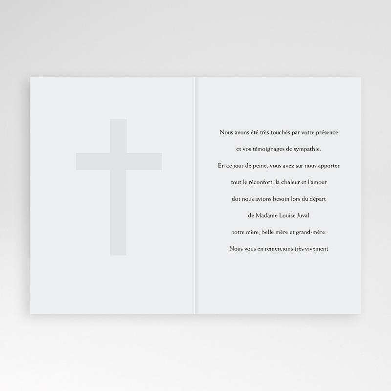 Carte Remerciement Décès Chrétien Dignité pas cher