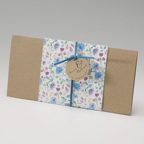 Faire-Part Mariage Traditionnel - Aquarelle bleue 46456