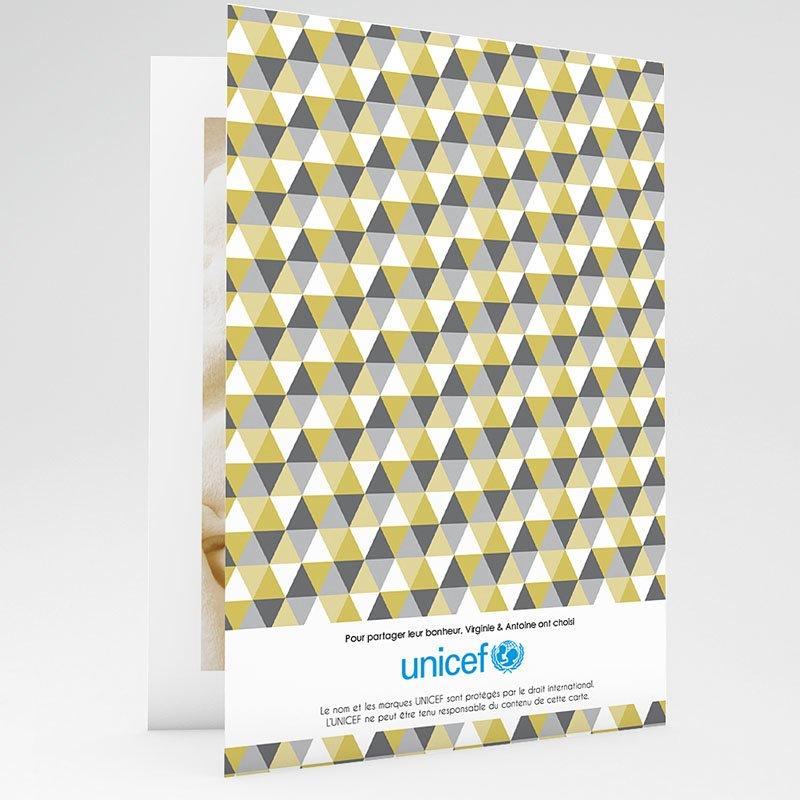 Faire-Part Naissance Garçon UNICEF Chouette et Damier gratuit