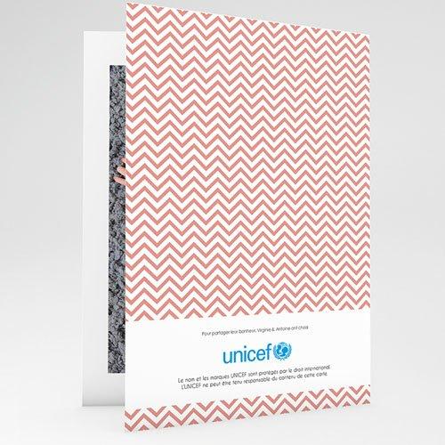 Faire-Part Naissance Fille UNICEF Chevronnée gratuit