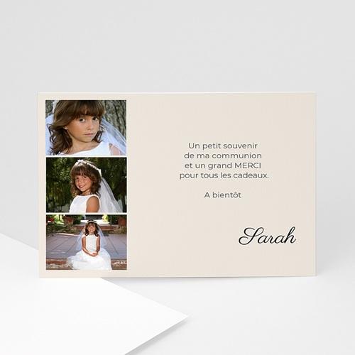 Remerciements Communion Fille - Couleurs de ma foi - Sarah 4648 thumb