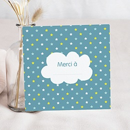 Remerciements Naissance Garçon - merci étoilé - 0