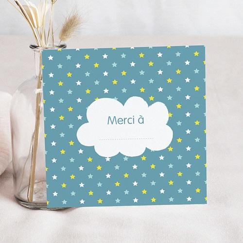 Carte Remerciement Naissance Garçon merci étoilé