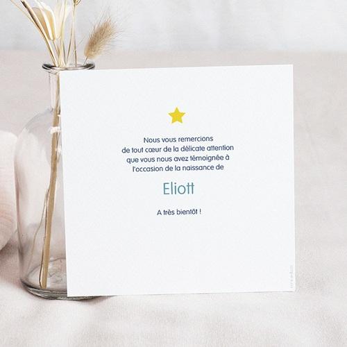 Carte remerciement naissance garçon merci étoilé pas cher