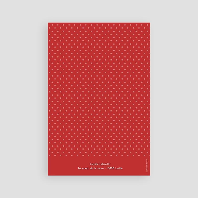 Carte Remerciement Communion Fille Pois rouges pas cher