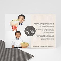 Carte remerciement communion garçon Repas Eucharistique