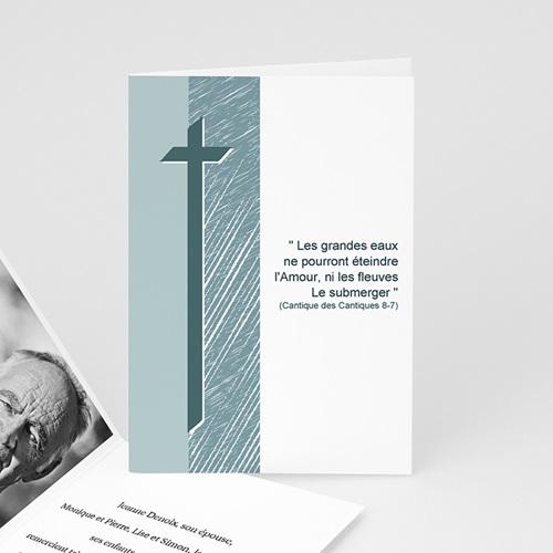Carte Remerciement Décès Chrétien Foi en l'avenir