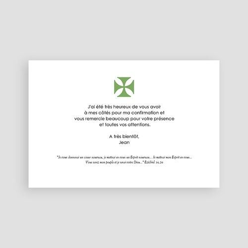Carte remerciement confirmation - Espoir, merci 46537 preview