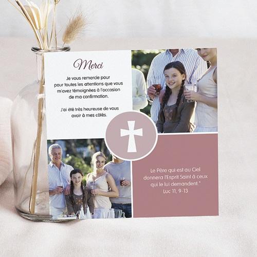 Carte remerciement confirmation - Engagement, merci 46554