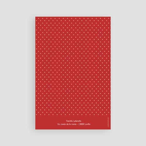 Carte remerciement communion fille Rouge, Merci pas cher