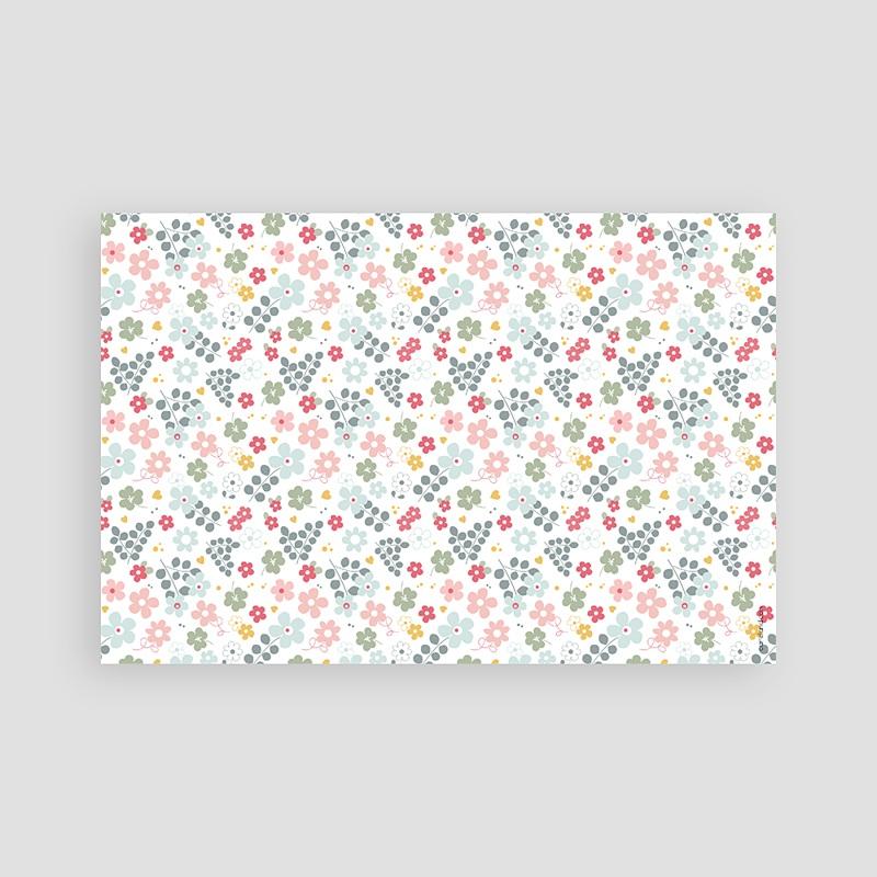Carte Remerciement Communion Fille Fleuri, merci pas cher