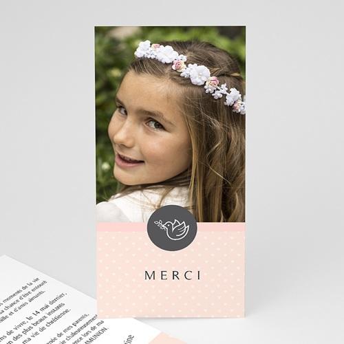 Remerciements Communion Fille - Petit coeur, Merci 46599 thumb