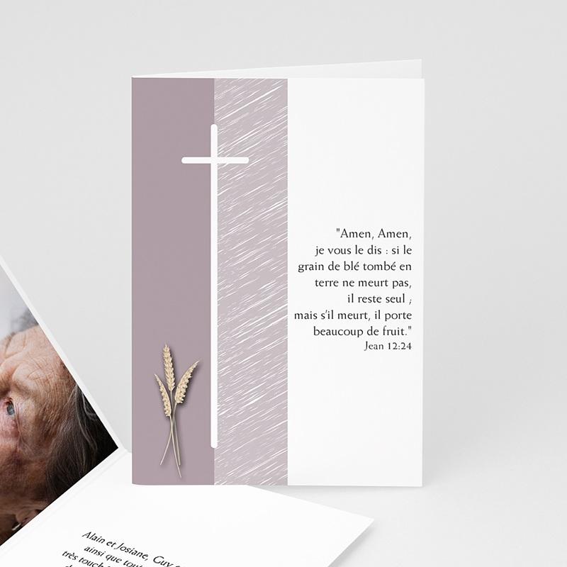 Remerciements Décès Chrétien - Je vous salue Marie - condoléances 4664 thumb