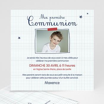 Faire-part Communion Garçon - Eucharistie Ecolier - 0