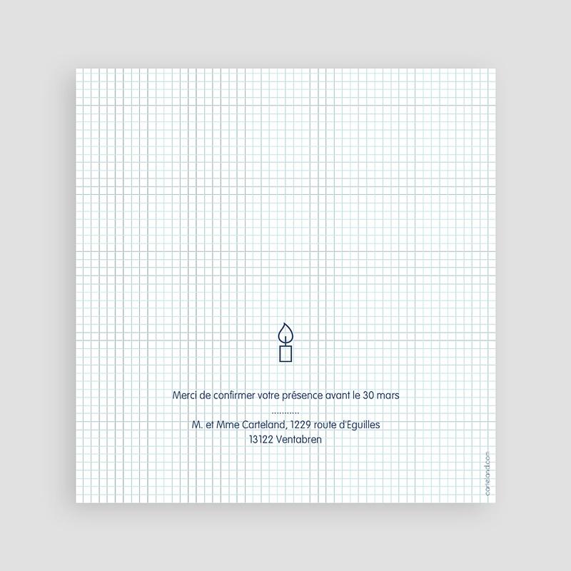 Faire-part Communion Garçon - Eucharistie Ecolier 46657 thumb