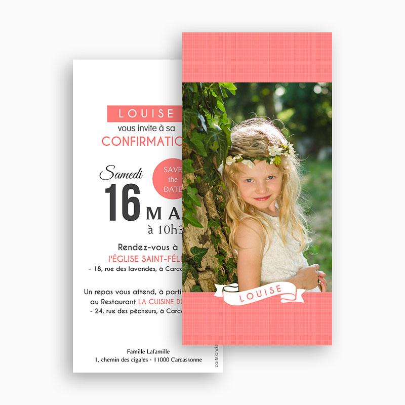 Invitation Confirmation  - Souffle de l'Esprit Rose 46691 thumb