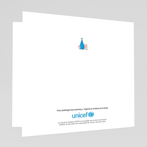 Faire-Part Naissance Garçon UNICEF - Cigogne Express 46698 preview