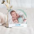 Carte Remerciement Naissance UNICEF Damier et Hibou pas cher