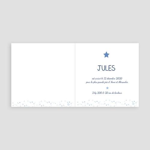 Faire-Part Naissance Garçon - Bleu Etoilé 46715 preview