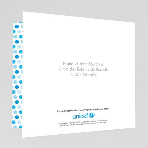 Faire-Part Naissance Garçon UNICEF - Gommettes Bleues 46722 preview